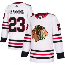 Chicago Blackhawks Youth Brandon Manning Adidas Authentic White Away Jersey