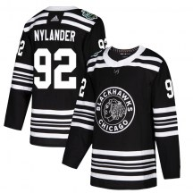 Chicago Blackhawks Youth Alexander Nylander Adidas Authentic Black 2019 Winter Classic Jersey