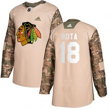 Chicago Blackhawks Youth Darcy Rota Adidas Authentic Camo Veterans Day Practice Jersey