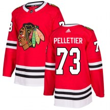 Chicago Blackhawks Youth Will Pelletier Adidas Authentic Red Home Jersey